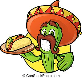 Mexican Cactus With Taco