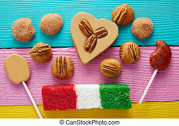 Mexican candy cajeta pecan coconut flag