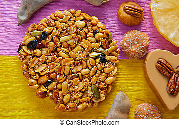 Mexican candy sweet Palanqueta with peanuts