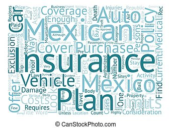 Mexican Car Insurance The Best Way To Buy It Word Cloud Concept Text Background