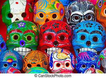 Mexican ceramics - Colorful traditional mexican ceramics on ...