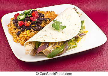 Mexican Chicken Fajita - Mexican chicken fajita with green...