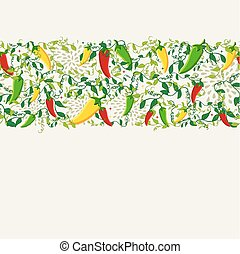 Mexican chili pepper pattern design