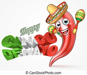 Mexican Cinco De Mayo Chilli Pepper Design