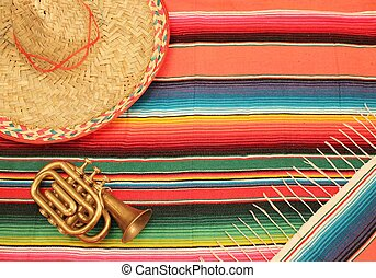 Mexican Cinco de mayo fiesta mariachi background