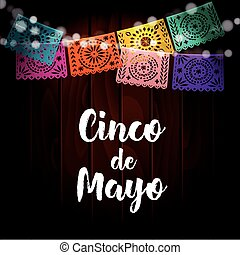 Mexican Cinco de Mayo greeting card, invitation. Party...