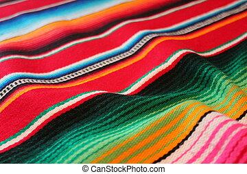 Mexican cinco de mayo rug poncho Mexico fiesta background with stripes