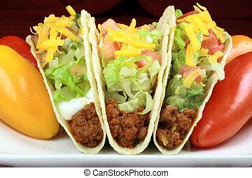 mexican crunchy taco - Delicious mexican tacos perfect...