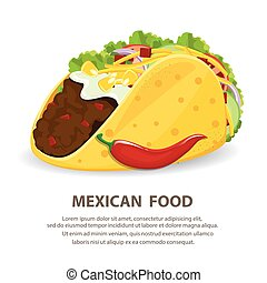 mexican cuisine with taco