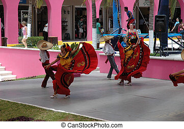 Mexican dancers - Exhabition Dance in Costa Maya