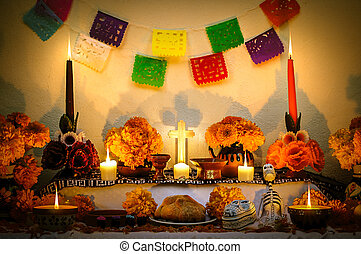 "Mexican day of the dead altar ""Dia de Muertos"""