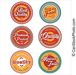 Mexican design retro vintage labels collection.