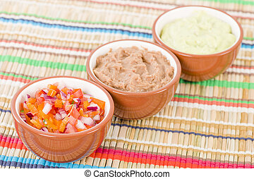 Mexican Dips & Side Dishes - Salsa, Refried Beans and ...