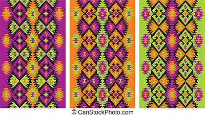 mexican ethnic frieze - vector editable and scalable mexican...