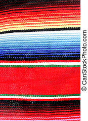Mexican Fabric Background - A colorful striped Mexican...