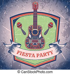 Mexican Fiesta Party label
