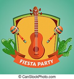 Mexican Fiesta Party poster