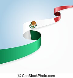 Mexican flag background.