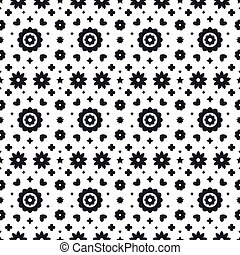 Mexican folk art seamless pattern with flowers on white background. Traditional design for fiesta party. Floral ornate elements from Mexico. Mexican folklore ornament.