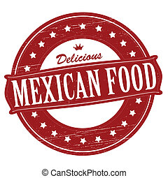 Mexican food - Stamp with text mexican food inside, vector...