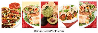 mexican food collage - different images of various Mexican ...