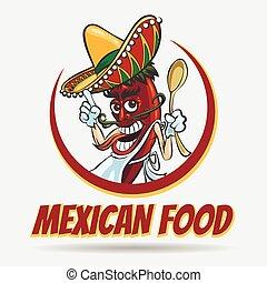 Mexican Food Emblem