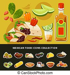 Mexican Food Icons Collection