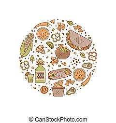mexican food, ikona