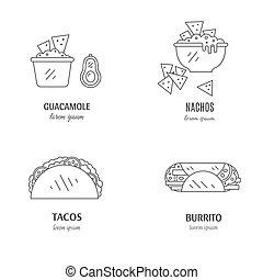 Mexican food logo