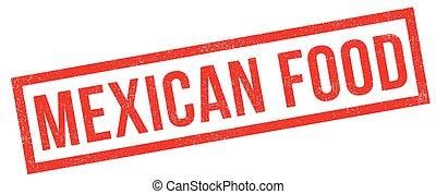 Mexican food rubber stamp
