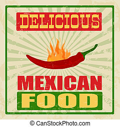 Mexican food vintage poster
