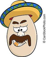 Cartoon Egg Face Character