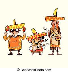 mexican guy cartoon theme vector art illustration