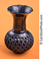 Mexican handicraft vase from Oaxaca - Typical Mexican...