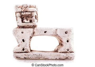 Mexican jaguar throne miniature