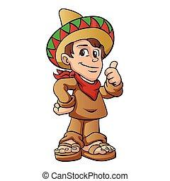 mexican kid cartoon.