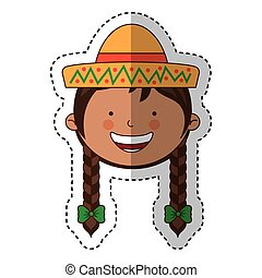 mexican little girl character