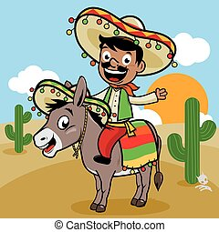Mexican man in the desert