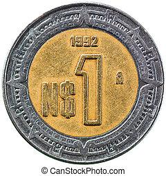 Mexican New Peso, 1 Peso 1992