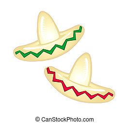 Mexican Party Hats - Raster version Illustration of a ...