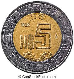 Mexican Peso, Five Pesos