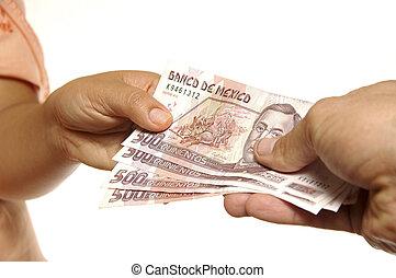 Mexican pesos exchange - Exchange of Mexican pesos between...