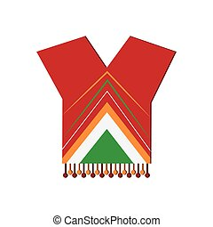 mexican poncho icon - flat design mexican poncho icon vector...