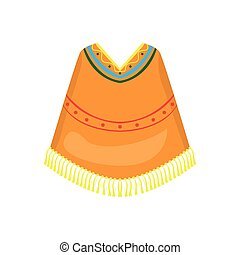 Mexican poncho icon on a white background, Vector...