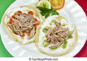Mexican Pork Tostadas  - Mexican pork tostadas