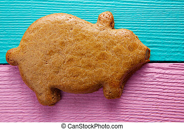 Mexican puerquito piggy shape pastry