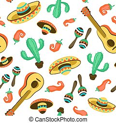 mexican seamless backround - Seamless background with...