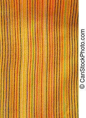 Mexican serape vibrant yellow macro fabric texture...