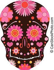 Mexican Skull Art Illustration