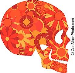 Mexican Skull Art Portrait Illustration
